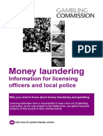 Money Laundering Information for Licensing Officers and Local Police