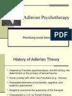 Adlerian Psychotherapy