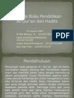 Analisis Buku Pendidikan Al-Qur'an Dan Hadits