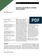 Evaluation 36 Formulas Osmolality