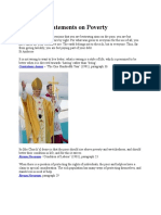 Encyclical Statements on Poverty