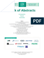Book of Abstracts ICM12