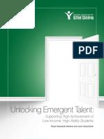 Unlocking Emergent Talent