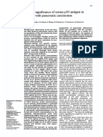 Clinical Significance of Serum p53 Antigen in Patients With Pancreatic Carcinomas