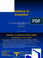 Initiere in Inventor - Curs 10 Elem Finit