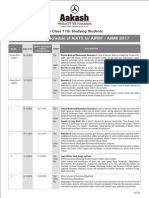 AIATS Medical 2017 Schedule