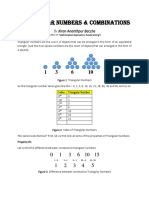 Triangular Numbers and Combinations