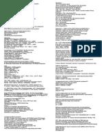 Physiology Cheat Sheet