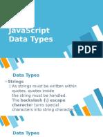 Data Types JavaScript