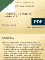 Poluanţi cu acţiune asfixiantă