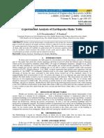 Experimental Analysis of Earthquake Shake Table