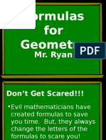 Formulas for Geometry