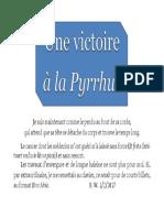 Une Victoire à la Pyrrhus