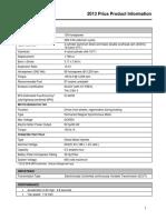 2013 Prius Product Info