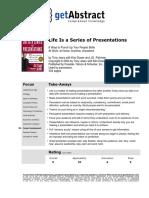 Life is a Series of Presentations Book Recap