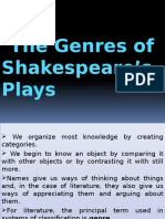 Curs 3- Shakespeare Genre