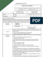 Programa Drept Penal General