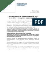 Communiqué -  Journée québécoise de la médiation familiale 2017
