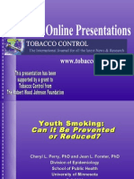 Youth Smoking Can It Be Prevented or Reduced