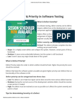 Defect Severity & Priority in Software Testing