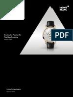 Montblanc Watch catalog 2014