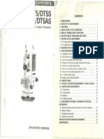 Sokkia DT5 Manual