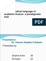 role of mathematical languages