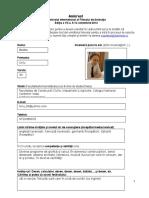 Formular Voluntar Ro 2012