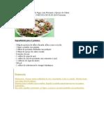 Salada de Figos Com Presunto e Queijo