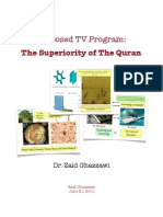 A Proposal to a New TV Program by Dr. Zaid Ghazzawi