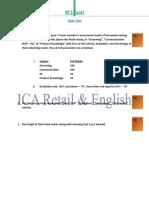 M S Excel Question Paper