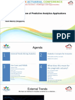 Parallel 15 - Pragmatic overview of predictive analytics applications