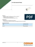 Data Sheet Pd Bpw21, Osram