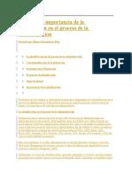 Evolución e Importancia de La Planificación en El Proceso de La Administración