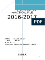 Practical CS FILE 2016-17