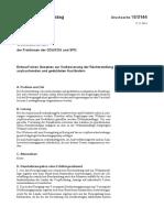 Deutscher Bundestag - Entwurf eines Gesetzes zur Verbesserung der Rechtsstellung von asylsuchenden und geduldeten Ausländern