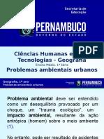 #Problemas Ambientais Urbanos