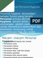 Kebutuhan Personal Hygiene