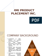 MMI Product Placement Inc.