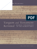 Martin McNamara Targum and Testament Revisited Aramaic Paraphrases of the Hebrew Bible a Light on the New Testament, Second Edition Biblical Resource