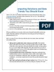 Cloud Computing Data Center Trends