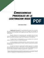 CONSECUENCIAS Procesales de La Legitimación Registral