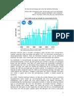Maior aumento da concentração de CO2 da história humana