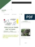 """Cómo Crear Una """"Botella Solar"""" en 4 Pasos _ La Bioguía"""
