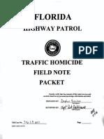 Florida Highway Patrol Field Note Packet for Tesla Autopilot Crash