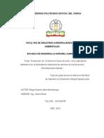 173 Evaluaciòn de La Harina de Hueso Como Ingrediente Alimenticio en La Alimentaciòn Tradicional de Alevines de Trucha Arcoiris - Jàtiva Montenegro, Diego