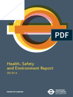 Tfl Health Safety and Environment Report 2013 14