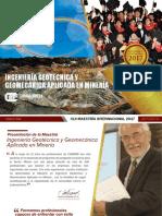 M6- Maestria Ingeniería Geotécnica y Geomecánica Aplicada en Minería