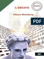 WEINBERG, Liliana - Pensar El Ensayo