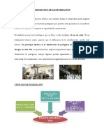 Sub Proceso de Pasteurización